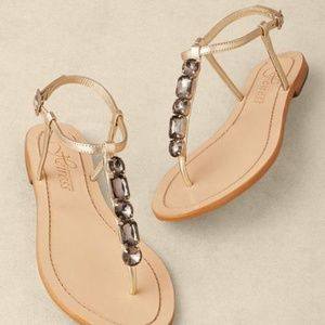 Seychelles Jeweled Leather Thong Sandals